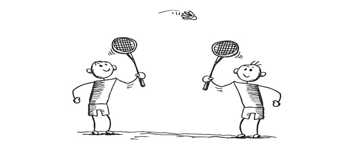Cartoon Badminton